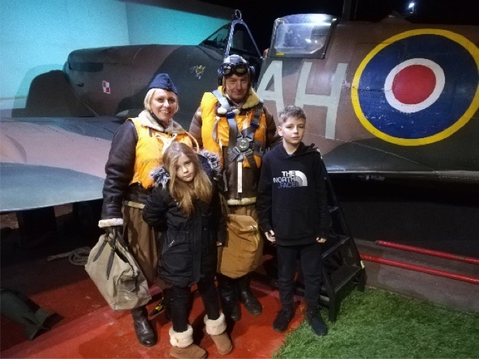 Family Share In Spitfire Simulator Experience